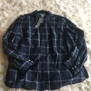 NWT Women's button up shirt